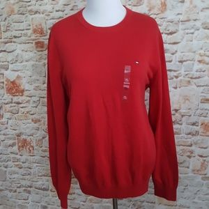 Tommy Hilfiger Sweaters - New Tommy Hilfiger Red Crew Neck Sweater
